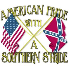 American pride with a southern stride Southern Heritage, Southern Pride, Southern Sayings, Southern Comfort, Southern Charm, Southern Belle, Southern Living, Redneck Humor, Redneck Girl