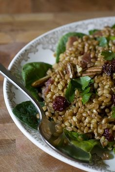 One of my all time favorites... Wheat Berry Salad with Bacon and Sun Dried Cherries.