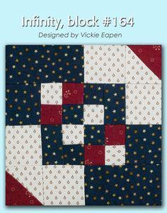 100 Blocks Sampler Sew Along Block 30: Infinity designed by Vickie Eapen #100BlocksSampler