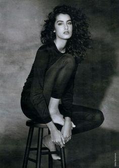 Yasmeen Ghauri photographed for Elle France February 1990.