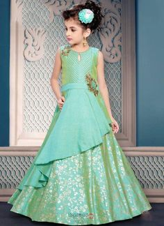 Buy kids salwar suits online - buy wedding wear embroidery work salwar suit for kids- wholesale collection-online shopping in shri lanka Gowns For Girls, Dresses Kids Girl, Dresses For Teens, Frock Design, Kids Gown Design, Trendy Dresses, Nice Dresses, Kids Party Wear Dresses, Kids Blouse Designs