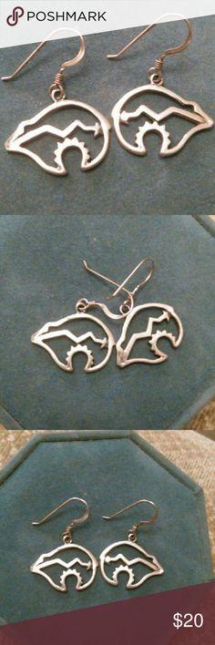 Navajo Bear earrings Navajo Indian style bear earrings Jewelry Earrings