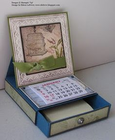 "Eileen's ""Stampin' Fever"" Blog: Desk Calendar with Drawer"