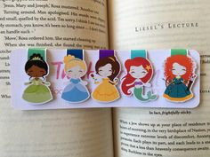 Set of Four/Five Mini Princess Magnetic by TheStickerAlley on Etsy