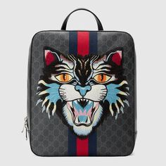 GUCCI Gg Supreme Backpack With Angry Cat.  gucci  bags  canvas  backpacks ea58f6712269d