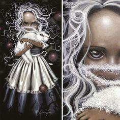 Resurrection BY Angelina Wrona Mysterious Girl With Bunny Rabbit Canvas Mysterious Girl, Bunny Art, Weird And Wonderful, Big Eyes, Bunny Rabbit, Trippy, Art Girl, Jasmine, Amazing Art