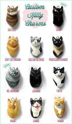 CUSTOM Kitty Charm - 1 Cat