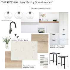 'The Kitch' Kitchen Remodel Pt The Design - Earthy Scandinavian Kitchen Mood Board – Check out our kitchen remodel (on a budget) before and t - Home Interior, Kitchen Interior, New Kitchen, Kitchen Decor, Kitchen Ideas, Design Kitchen, Interior Design Boards, Kitchen Rustic, Kitchen Small