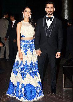 "bollywoodishtyle: ""Outfit Highlights: Shahid Kapoor & Mira Rajput's Wedding Reception "" Indian Reception Outfit, Wedding Reception Outfit, Wedding Outfits, Indian Attire, Indian Wear, Indian Dresses, Indian Outfits, Indian Clothes, Mira Rajput"
