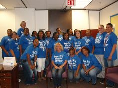 "Pensacola DCF staff wear ""From Blue to Better"" shirts in support of Child Abuse Prevention.  http://frombluetobetter.org/    #pinwheelsforprevention"