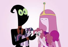 Nergal And Princess Bubblegum Likes To Play With My Little Pony Toy (Bubblegal) Nergal Played Twilight Sparkle Toy And Princess Bubblegum Played Pinkie Pie Toy Cartoon Network HD 2017 Art By Nathaniel <3 :)