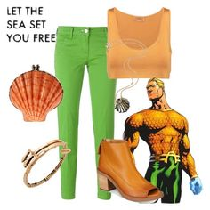 """Aquaman"" by claudialogan ❤ liked on Polyvore featuring Jacob Cohёn, Giambattista Valli, Rosita Bonita, Alex and Ani and Kelsi Dagger Brooklyn"