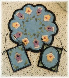 Summer Rental Penny Rug/Candle Mat MAILED PAPER by pennylaneprims