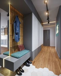 Read More About Contemporary Small Apartment Entryway Decorating Ideas Here >> Small Apartment Entryway, Apartment Entrance, House Entrance, Apartment Ideas, Entrance Foyer, Bedroom Apartment, Apartment Layout, Cozy Apartment, Apartment Interior