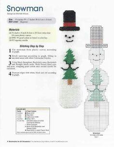Bookmark snowman