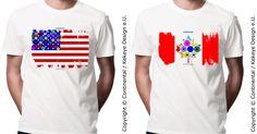 Dots Design, New Market, Design Products, Flag, Canada, Europe, City, Mens Tops, T Shirt