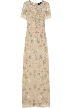 this, most definitely this! // Needle & Thread Petal embellished tulle gown, $465