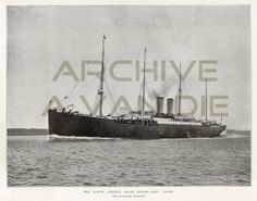 The North German Lloyd Steam-ship Elbe. Published by The Illustrated London News, feb 9, 1895