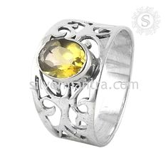 Beautiful ! Citrine 925 Sterling Silver Ring