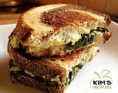Spinach and Artichoke Grilled Cheese | Kim's Healthy Eats
