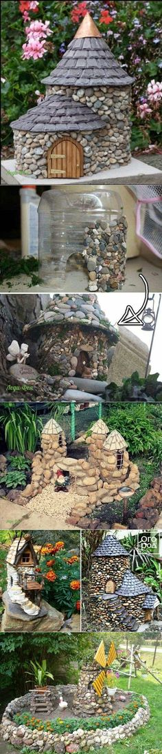 Ideas for vacation homes at home - Diy Garden - Fairy Lights Terrace Fairy Garden Houses, Diy Garden, Garden Boxes, Garden Crafts, Garden Projects, Garden Art, Fairy Gardens, Garden Kids, Garden Leave