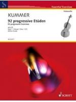 KUMMER F.A. - 92 PROGRESSIVE ETÜDEN BAND 1 OP. 60 - € 17,50 Cello studie, 2 Celli, SCHOTT ED22371