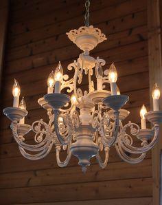 My freshly painted chandelier!