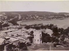 View of Manly, looking towards the harbour, 1932 State Library of Victoria Avalon Beach, Bronte Beach, Penal Colony, Aboriginal History, Manly Beach, Sydney City, Historical Images, North Shore, South Wales