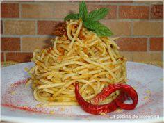 LA COCINA DE MORENISA: Espaguetis con Tomates Secos