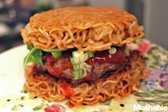 Ramen Burger - this looks disgusting and kind of delicious all at the same time...