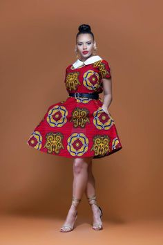 African Print Oluwa Midi Dress