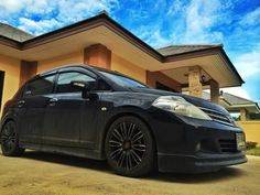 Black tiida Nissan Tuning, Nissan Versa, Ship, Note, Luxury, Black, Cars, Black People, Ships