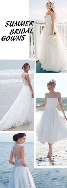 These summer bridal gowns are weightless and gorgeous. Weightless bridal dresses are great for summer and beach wedding! Up to 60% off!