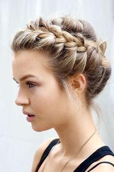 ... cute braided bun hairstyles for short hair ...
