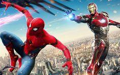 Descargar fondos de pantalla Spider-Man de Regreso a casa, 2017, Iron Man, Spiderman, el cartel, las nuevas películas