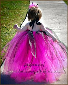 in pink and black tutu