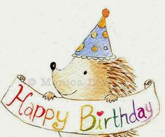 Birthday hedgehog ♡