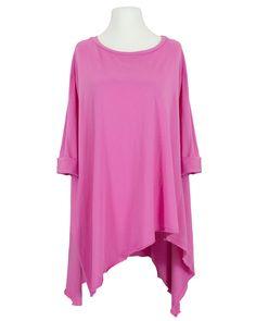 Damen Shirt Baumwolle A-Linie, pink von Wendy   meinkleidchen Damenmode aus Italien Shirts & Tops, Oversize Look, Pink, Tunic Tops, Women, Fashion, Sequins, Fashion Women, Cotton