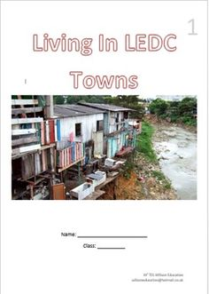 This 6 page booklet allows students to investigate settlements in LEDCs, why people move to the towns and cities, choosing a place to live when there and how to improve a shanty town. Why People, Booklet, Cities, Environment, Students, Urban, Live, Places, City