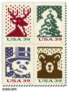 USPS Knitting stamps