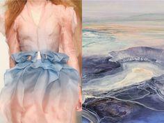 Sweet clouds fashion & nature photo collage by Liliya Hudyakova