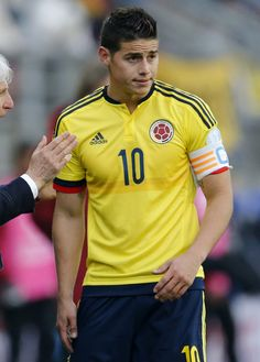James Rodriguez wearing the captain badge of the ColombianNational Team. Copa America Chile 21.6.15