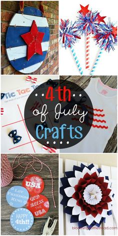Check out these Fourth of July crafts to help decorate or as activities for kids! Patriotic Crafts, Patriotic Party, July Crafts, Summer Crafts, Holiday Crafts, Holiday Fun, Crafts For Kids, Holiday Ideas, Holiday Decor