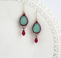 Hey, I found this really awesome Etsy listing at https://www.etsy.com/listing/251219142/crystal-teardrop-earring-turquoise