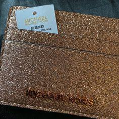 Michael Kors Glitter Cardholder Wallet on Mercari