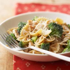 T * a lil on the dry side but very good Bow Tie Pasta with Chicken and Broccoli