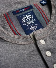 The Superdry collection of men's tops has got you covered with the latest styles in everything from crew necks to vest tops. Garments Business, Polo Design, Mens Polo T Shirts, Zara Boys, Badge Design, Henley Top, Clothing Labels, Fashion Branding, Cool Tees