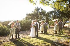 Wild Catter Ranch Wedding, outdoor rustic chic wedding, bridesmaids with parasols