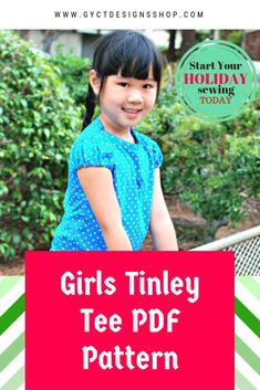 181cba3b46 Sew this sweet little girls t-shirt pattern to add to your little ones  holiday