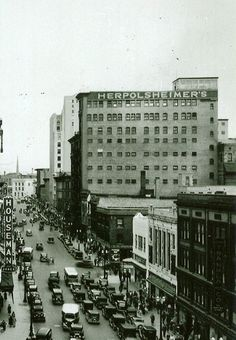Herpolsheimer's and Kresge's across the street. 1930s